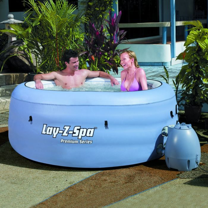 4 places spa gonflable mobile bestway lay z spa achat vente spa complet - Jacuzzi gonflable occasion ...