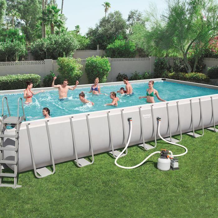 PISCINE piscine hors sol tubulaire bestway 9.56x4.88x1.32m
