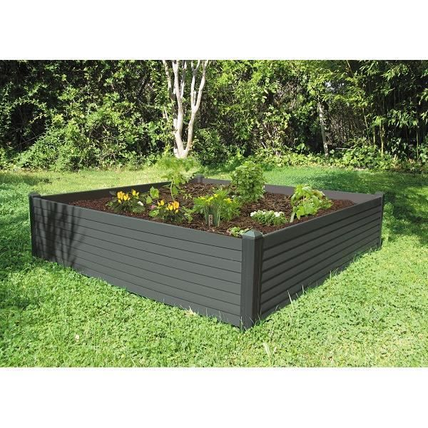 carr potager 120 x 120 cm chocolat achat vente carr. Black Bedroom Furniture Sets. Home Design Ideas