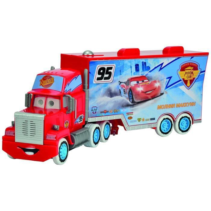disney pixar cars t l commande rc racing turbo mack truck 1 24 achat vente voiture camion. Black Bedroom Furniture Sets. Home Design Ideas
