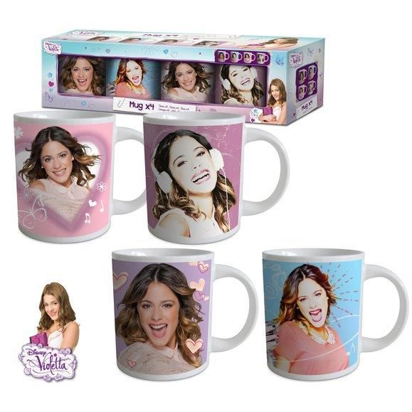 violetta coffret 4 mugs achat vente bol mug mazagran cdiscount. Black Bedroom Furniture Sets. Home Design Ideas