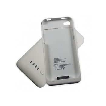 coque batterie 1900mah iphone 4 4s blanc achat coque. Black Bedroom Furniture Sets. Home Design Ideas
