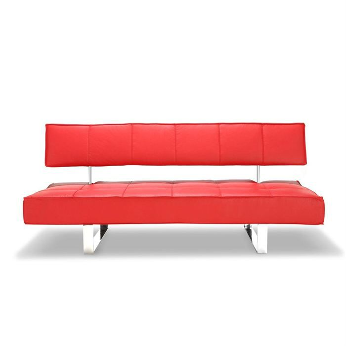 canap convertible design rouge broadway achat vente canap sofa divan polyur thane. Black Bedroom Furniture Sets. Home Design Ideas