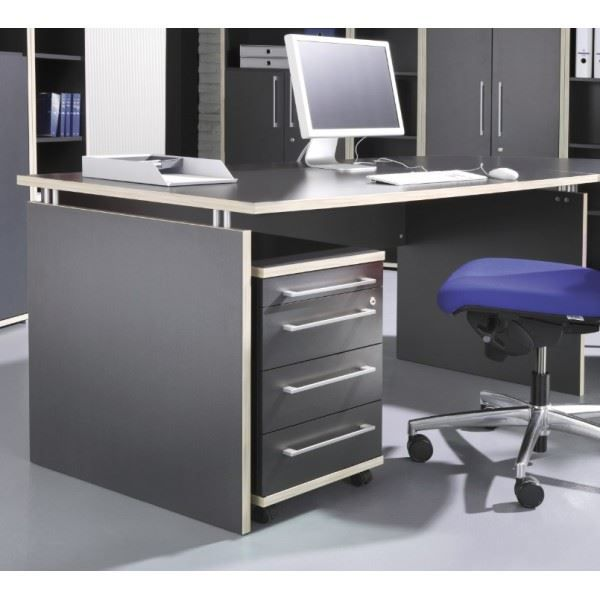 bureau et caisson avec serrure fly coloris an achat. Black Bedroom Furniture Sets. Home Design Ideas