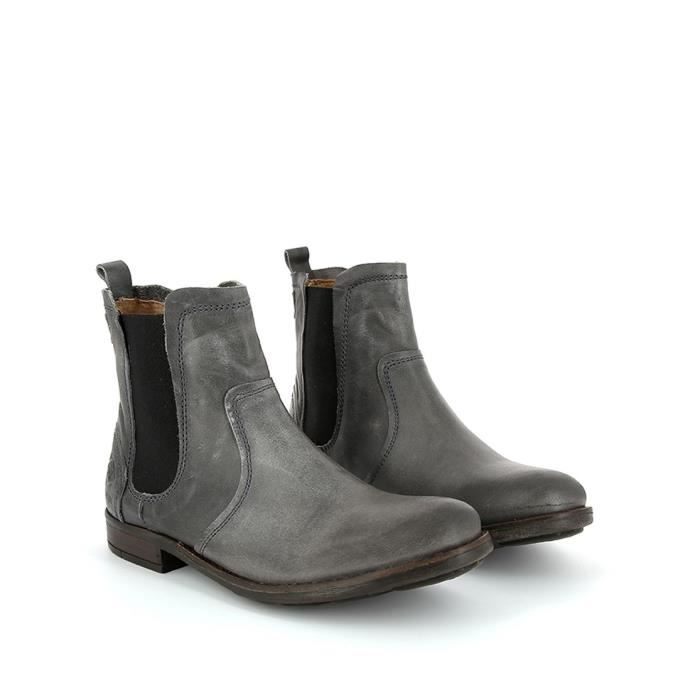 Bottines cuir UNA P.L.D.M. by PALLADIUM Grey l2YigkF