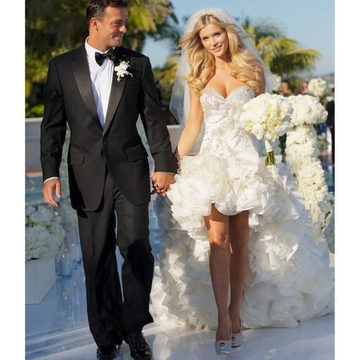 Nouveauté Robe de mariage mariée courte devant