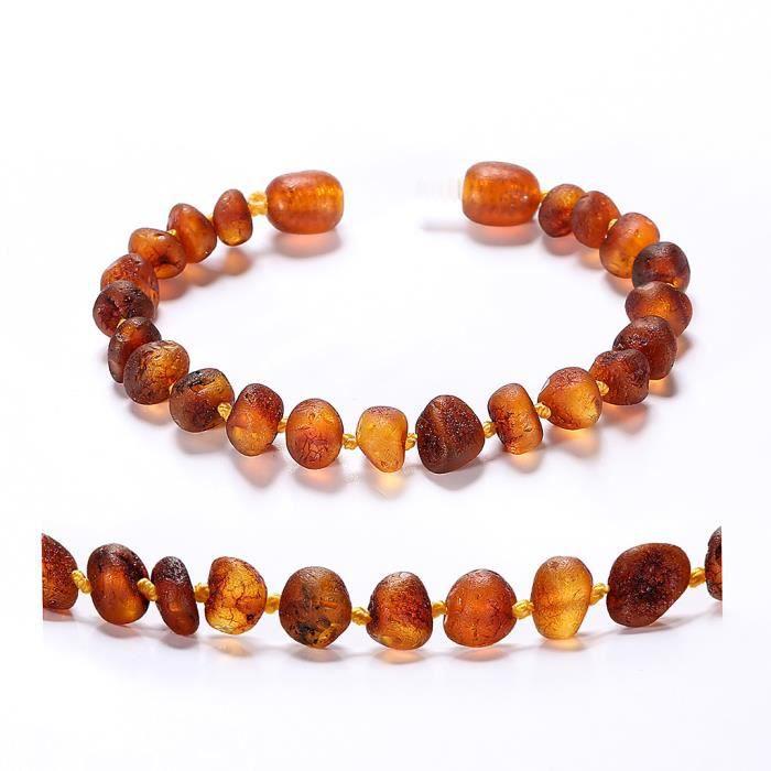 bracelet cheville ambre