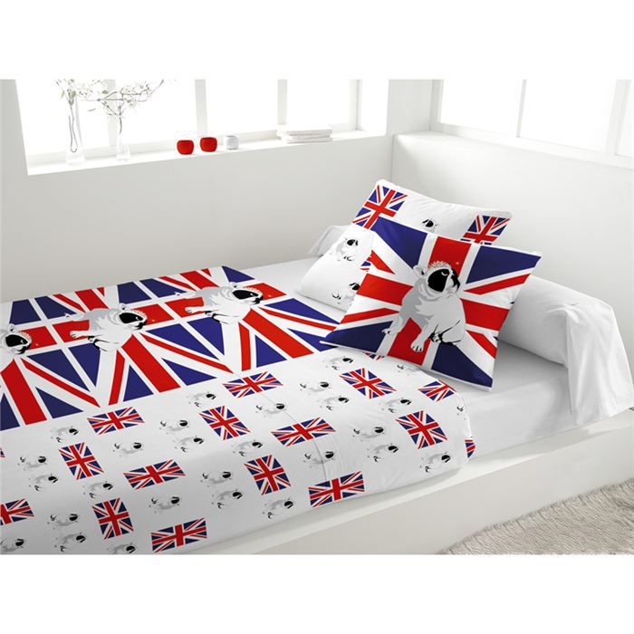 parure de lit boxer blanc achat vente parure de lit cdiscount. Black Bedroom Furniture Sets. Home Design Ideas