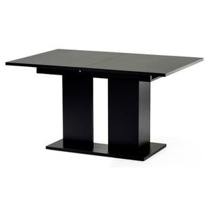 Table a manger laque noire achat vente table a manger for Table extensible 4 8 personnes