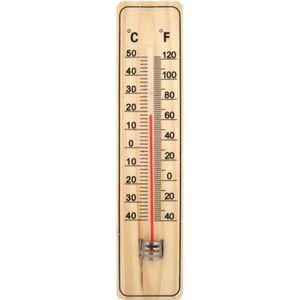 THERMOMÈTRE - BAROMÈTRE Thermomètre intérieur extérieur en Bois 22cm