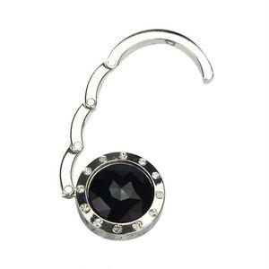 Attache//Crochet pliant de sac A main en cristal portable pour les femmes Ambre SODIAL R