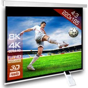 ECRAN DE PROJECTION 4:3 Écran videoprojecteur motorisé 220 x 165 cm po