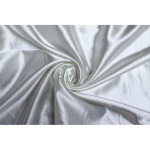 TISSU Tissu Satin Elasthane Blanc -Au Mètre