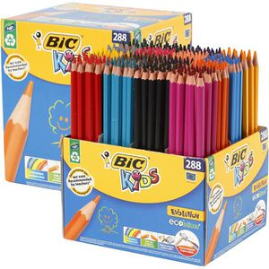 CRAYON DE COULEUR Crayons de couleurs BIC Kids triangulaires sans bo