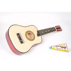 INSTRUMENT DE MUSIQUE Guitare clasique 6 cordes métal pour enfant + médi