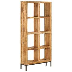 BIBLIOTHÈQUE  Bibliothèque 80x25x175 cm Bois de manguier solide