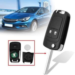 Coque 2 boutons pliable pour Cle telecommande Vauxhall Ople Astra Insignia