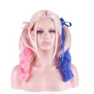 CHAPEAU - PERRUQUE Perruque longue Harley Quinn Suicide-Squad Cheveux