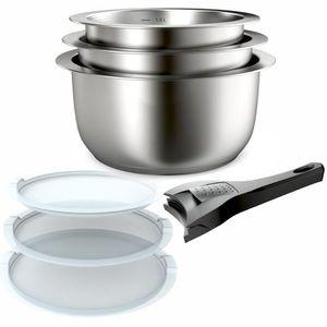BATTERIE DE CUISINE Backen 401199 - Set de casseroles - 7 Pièces - ino