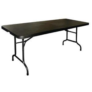 Blanc Table pliante salle à manger Parti Décoration banquet Camping BBQ Heavy Duty 6 ft environ 1.83 m