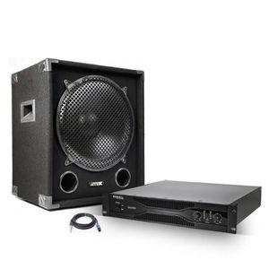 PACK SONO Amplificateur sono 2x1000 W + Caisson de basse 120