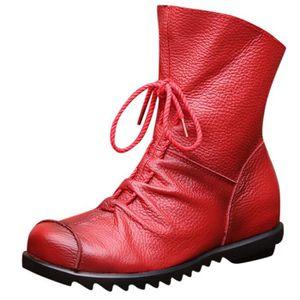 rouge cuir cuir rouge femme Bottines Bottines femme Bottines cuir femme Yyb6gfv7