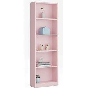 BIBLIOTHÈQUE  Bibliothèque avec 5 étagères coloris rose - Dim :