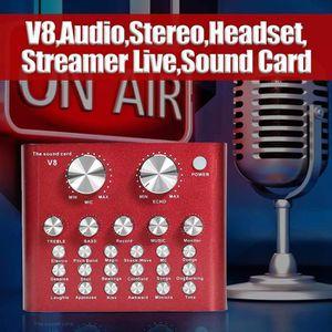 CARTE SON ET DSP V8 Digital Carte Son Audio ordinateur de téléphone
