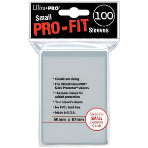 CARTE A COLLECTIONNER 100 Protèges cartes Pro-Fit Sleeves small
