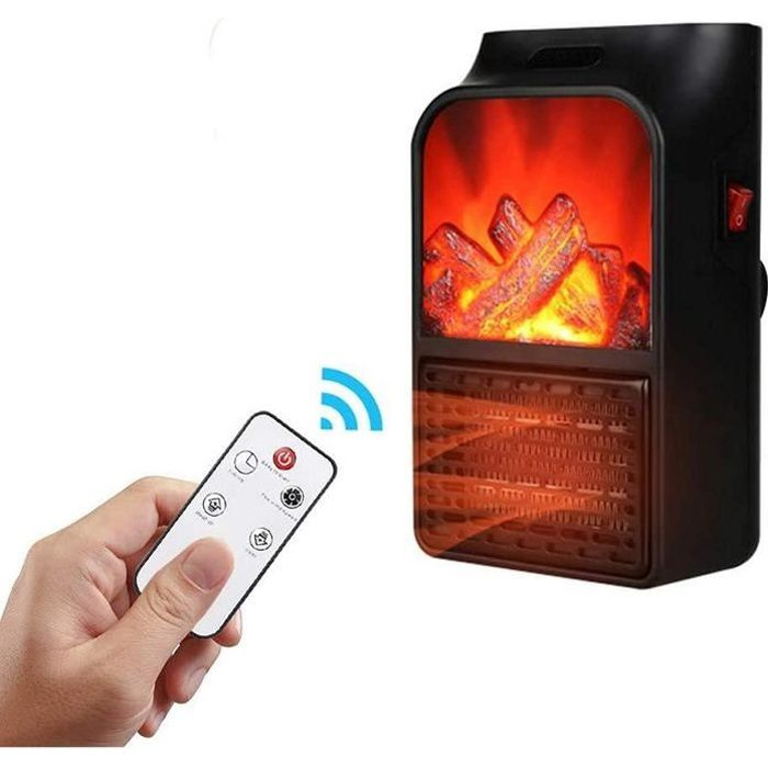 Lampe de Chauffage de cuisinière électrique portative portative Libre LED Effet de Flamme Journal cheminée décor à la Maison po A177