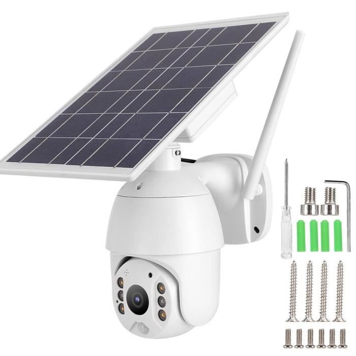 Caméra IP étanche extérieure avec panneau solaire-YIN