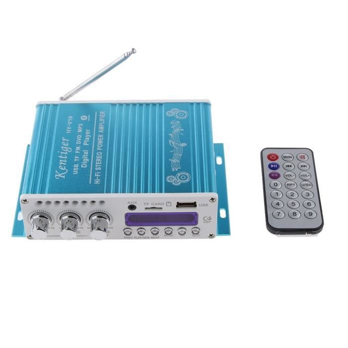 Transmetteurs FM WINGONEER Mini Bluetooth Salut-Fi Stereo Audio AMP Amplificateur Basse Booster MP4 12V soutien FM - MP3 43813