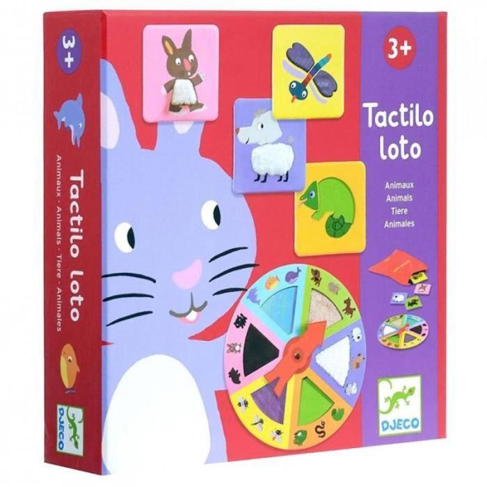 Loto tactile enfant jeu loto Animaux jeu éducatif Djeco 3 ans +