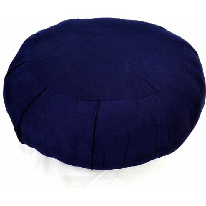 Zafu Traditionnel Bleu Marine