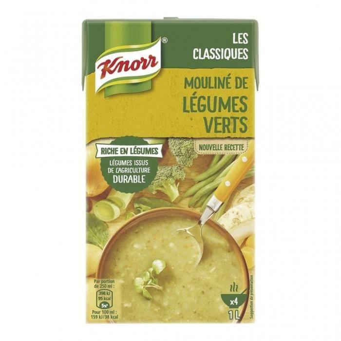 Knorr Les Classiques Mouliné de Légumes Verts 1L (lot de 4)