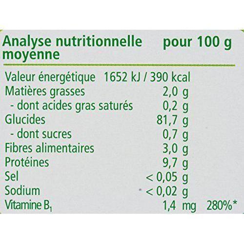 Hipp Biologique 100% Céréales Mes Premières Céréale dès 4/6 mois - 6 paquets de 250 g