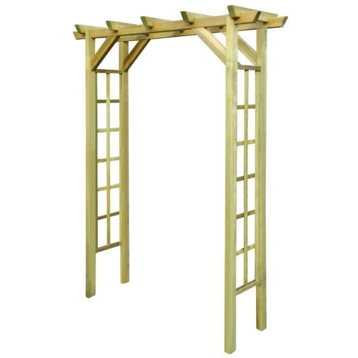 MMCZ® Arche à Rosiers Professionnel - Arche de jardin Arche déco - 150 x 50 x 200 cm - Bois imprégné ❤6854