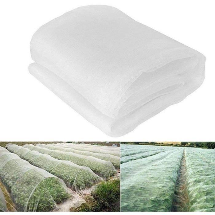 6*2.5CM Filet de protection anti-insectes en maille fine pour jardin, serre, plantes, fruits, fleurs, cultures