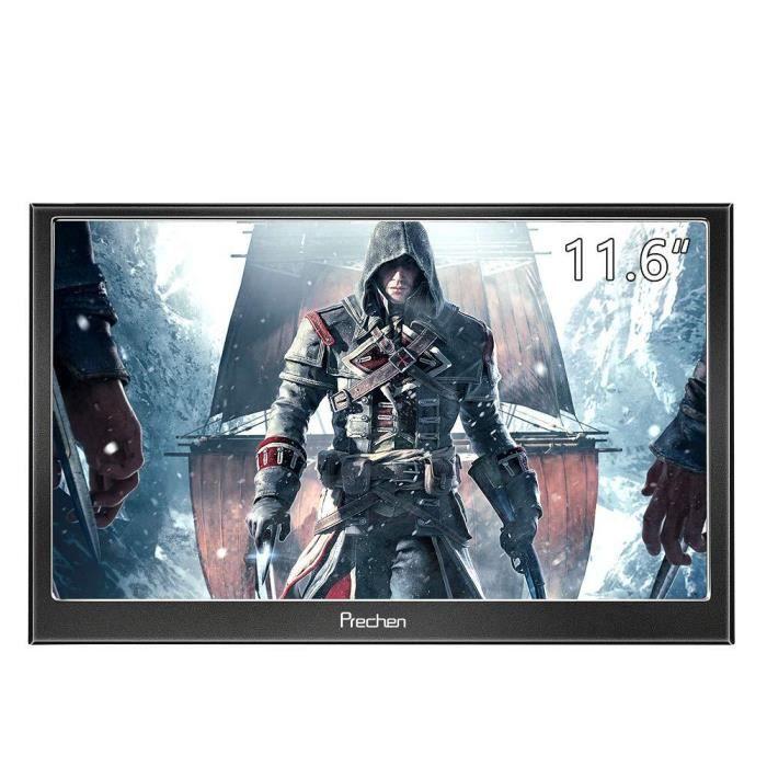 11,6 Pouces Portable Moniteur Hd 1080P Ips écran Hdmi/Vga Ports Haut Parleur intégré Compitable pour Ps3 Ps4 Wiiu Xbox360 Raspberry