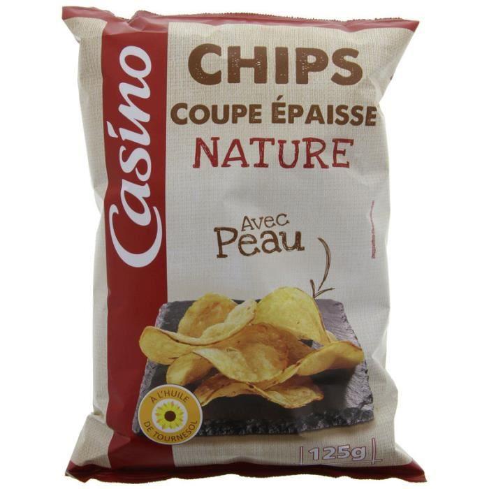 Chips coupe épaisse nature - Avec peau - 125g