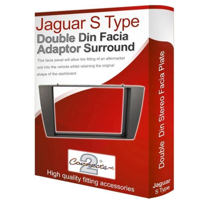 Jaguar S Type de Radio stéréo adaptateur Façade d'autoradio façade d'autoradio panneau plaque-CD Surround