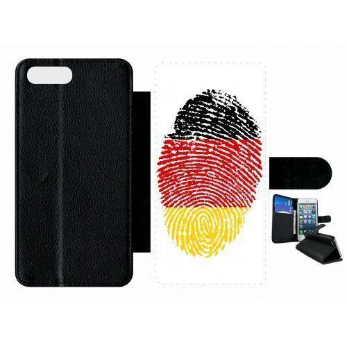 etui rabat apple iphone 7 plus empreinte digitale drapeau allemagne germany!!!
