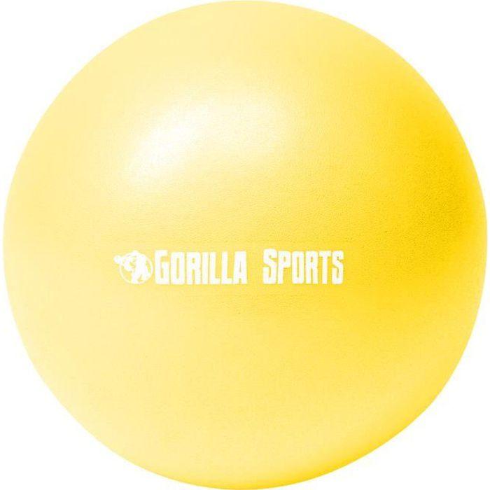 Ballon de Pilates jaune Soft Ball - Diamètre : 18 cm