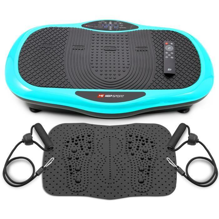 HS HOP-SPORT Plateforme vibrante 3D HS-070 VS Scout Turquoise + Tapis de massage