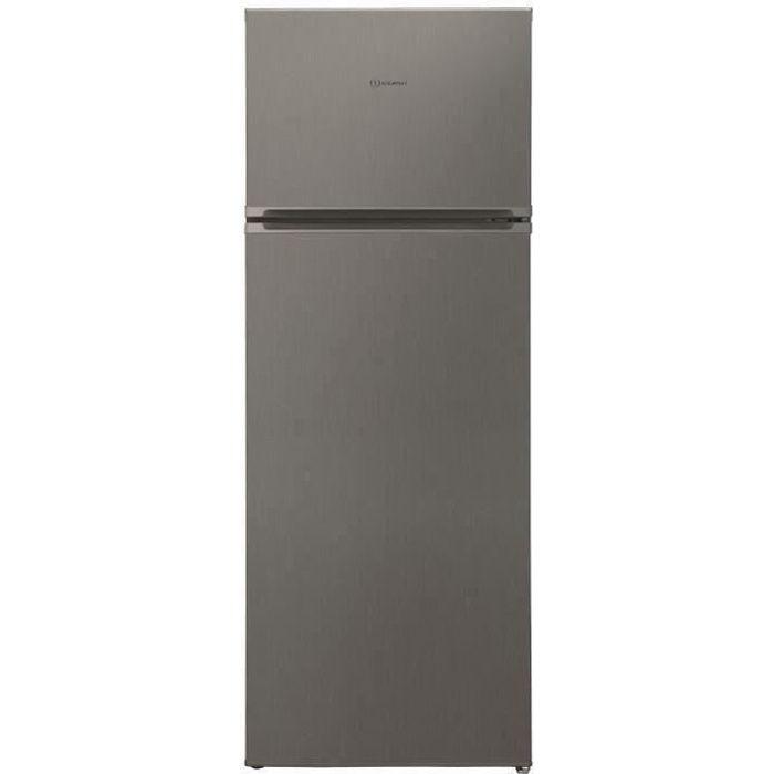 INDESIT I55TM4110X1 - Réfrigérateur congélateur haut - 213L (171 + 42) - Froid Statique - A+ - L 54 cm x H 144 cm - Inox
