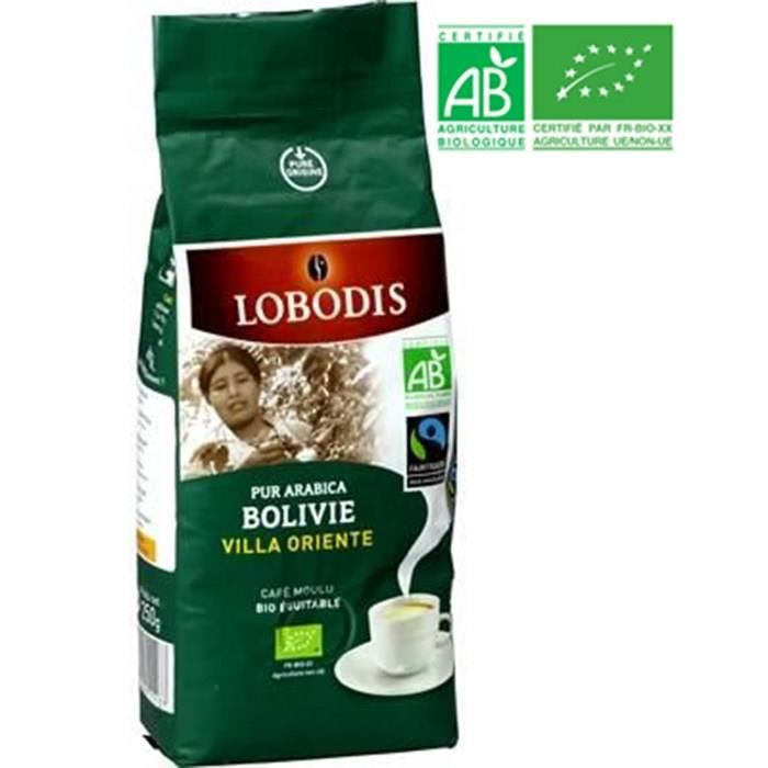 Café moulu Bolivie Bio Equitable LOBODIS 250g
