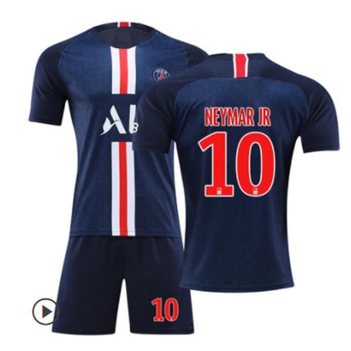 NEYMAR JR NO.10 Paris Saint-Germain 19/20 Jersey Maillots Foot et Shorts de football Homme/Enfant