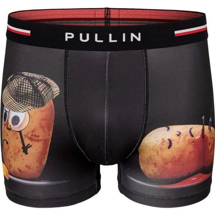 PULL IN Boxer Homme Microfibre PATATE Noir