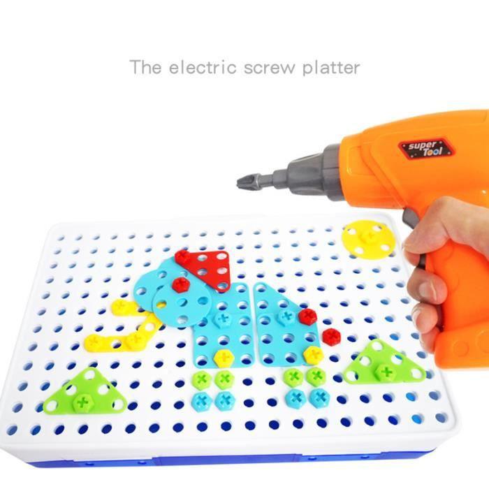 Ensembles de Perceuse électrique, Assemblage de Puzzles Créatifs 3D Jouet de blocs Bricolage de construction Cadeau pour enfants - B