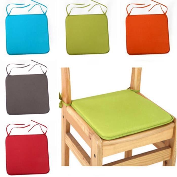 UxradG carré de luxe salle à manger galettes de coussins de chaise, étanche avec cordon pour voiture Canapé Bureau #4991